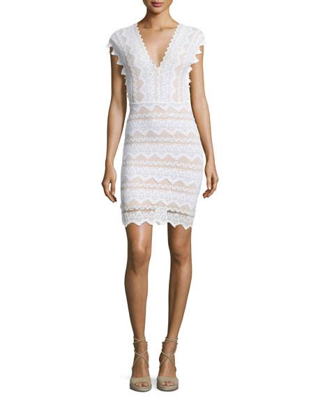 Nightcap Clothing Antoinette Lace Sheath Dress, Dove