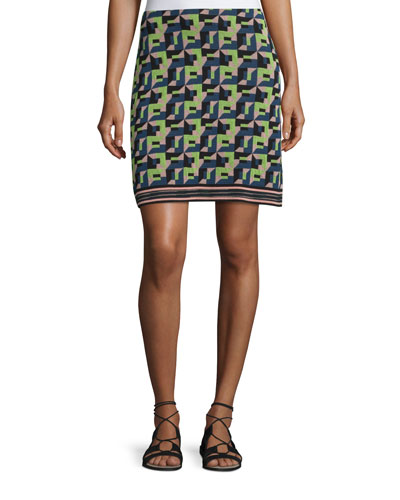 Geometric Jacquard Skirt