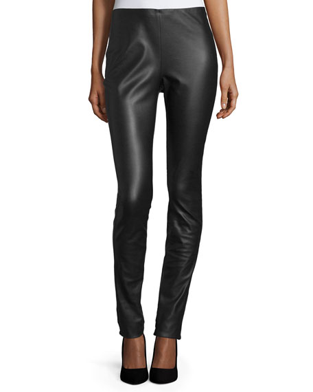 M Missoni Faux-Leather Leggings, Black