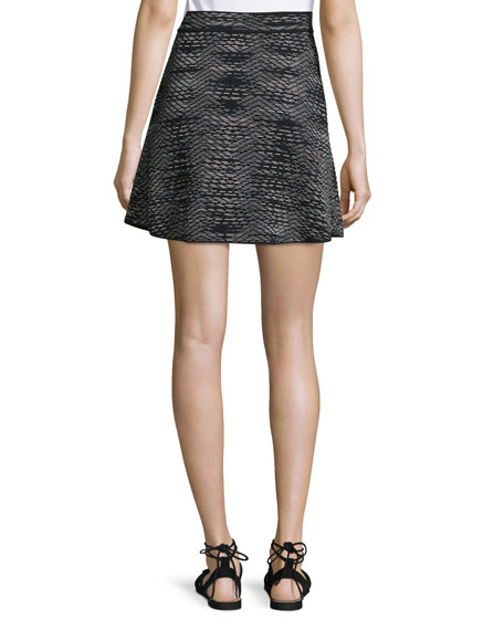 Space-Dye Flared Skirt