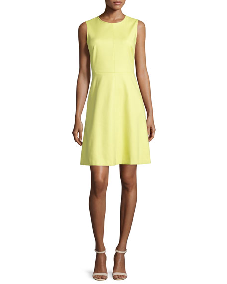 Sleeveless Spring Dress, Chartreuse
