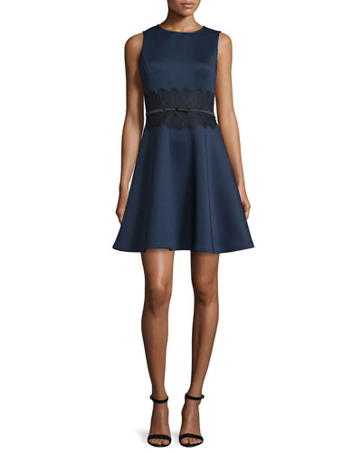 Gramercy Sleeveless Lace-Waist Fit & Flare Dress