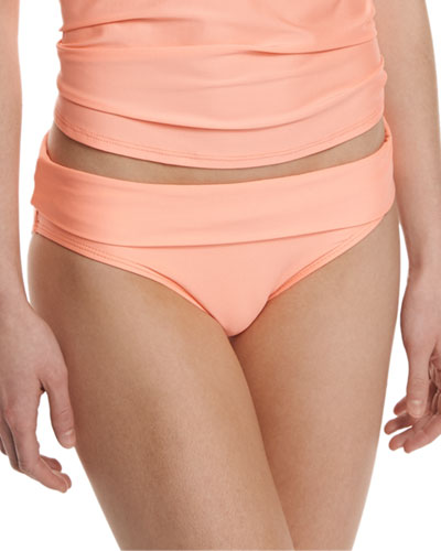 Hamptons Banded Swim Bottom, Tangerine