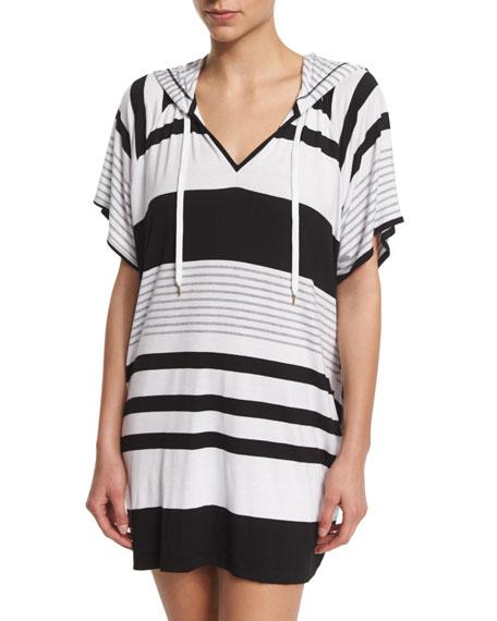 La Blanca Between The Lines Striped Pullover Hoodie