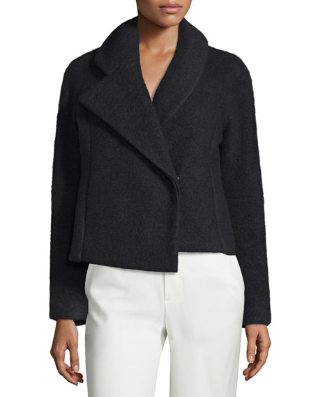 Opening CeremonyMorgane Asymmetric-Collar Jacket, Black
