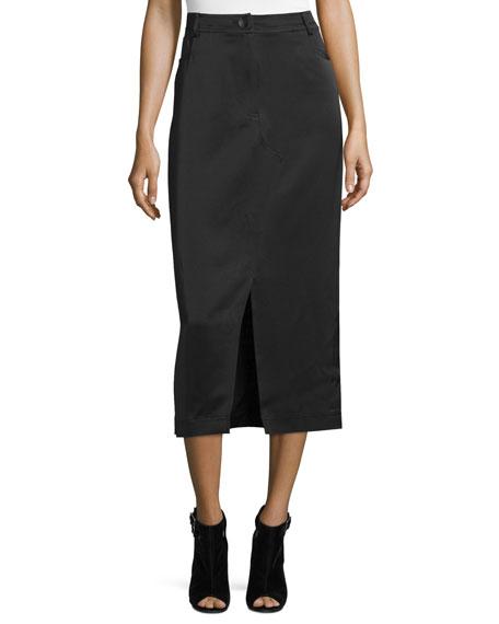 Opening Ceremony High-Waist Slim Midi Skirt, Black
