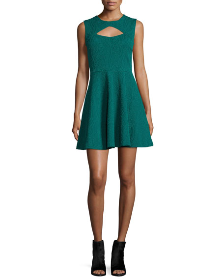 Opening Ceremony Brynn Sleeveless Fit-&-Flare Dress, Fern Green
