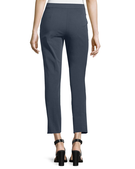Four-Way Stretch Cropped Pants, Navy