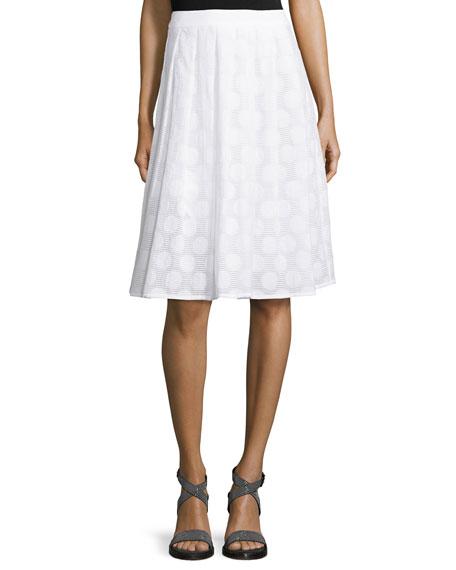 Peserico Circle-Print Flared Midi Skirt