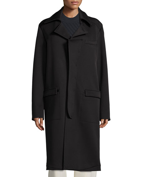 Opening Ceremony Long-Sleeve Cocoon Coat, Black