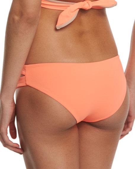 9e5b95837f9773 L Space Swimwear by Monica Wise Costa Fiesta Estella Cutout-Side Swim Bottom,  Sorbet