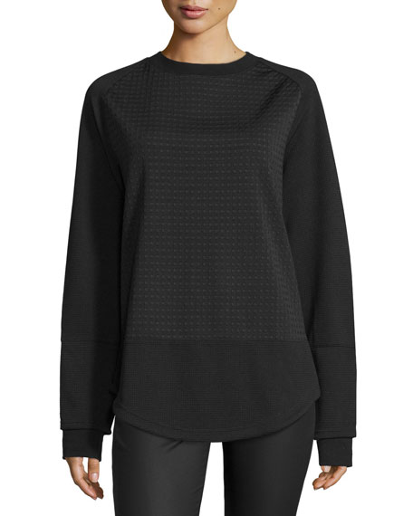 Opening Ceremony Long-Sleeve Textured Pullover, Black