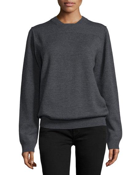Reid Long-Sleeve Sweater, Charcoal