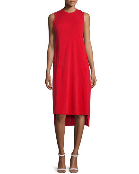 DKNY Cape-Sleeve Jersey Midi Dress, Vermillion