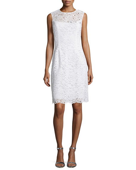 Rickie Freeman for Teri Jon Sleeveless Lace Sheath