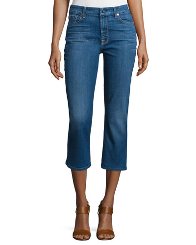 Brighton Blue Wash Cropped Jeans