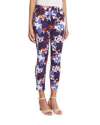 Floral Shadows Cropped Skinny Pants