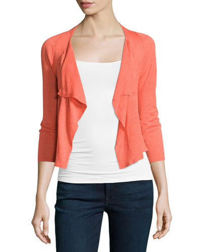 4-Way Drifting Cardigan, Hot Coral Online Cheap