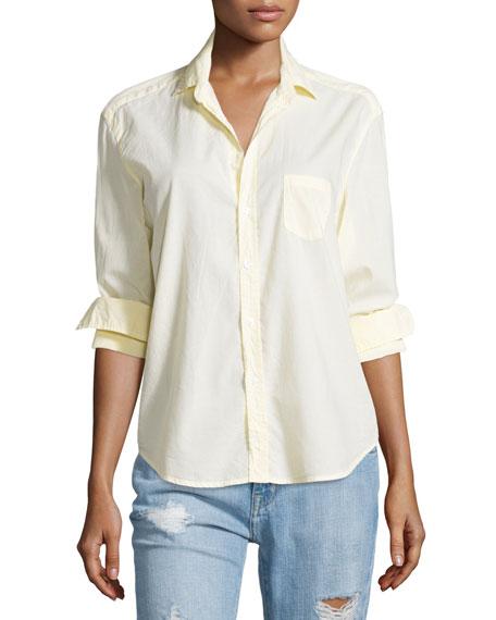 Frank & Eileen Eileen Button-Front Poplin Shirt, Yellow