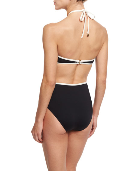 plage du midi cutout one-piece swimsuit, black