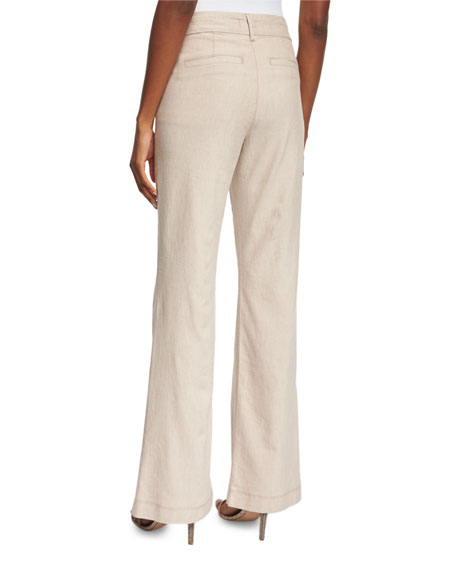 Claire Textured Linen Twill Pants