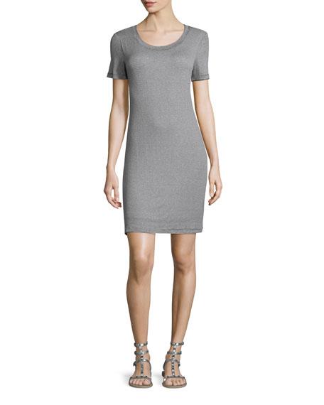 Splendid Winward Micro-Striped Sheath Dress, Navy