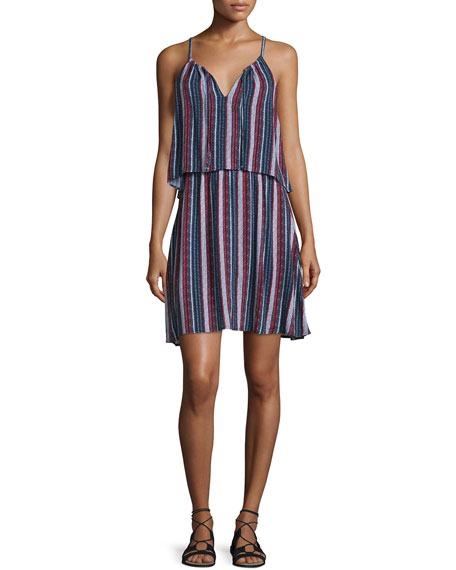 Splendid Beachcomber Sleeveless Popover Dress, Red/Navy