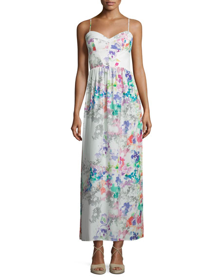 Amanda Uprichard Mai Tai Sleeveless Maxi Dress, Waterfall
