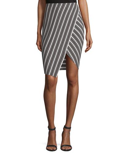 Souk Striped Pencil Skirt, Multi Stripe