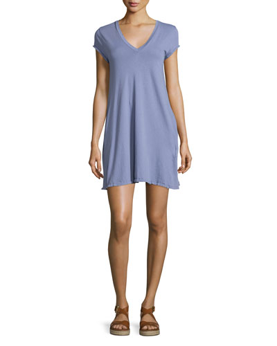 The V-Neck Trapeze Dress, Persian Violet