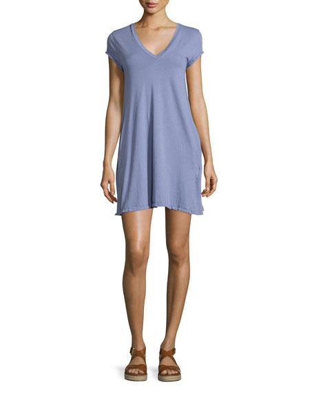 Current/Elliott The V-Neck Trapeze Dress, Persian Violet