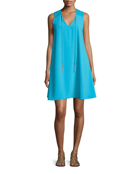 Trina Turk Sleeveless V-Neck A-Line Dress