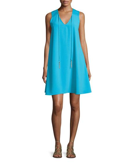 Trina Turk Sleeveless V-Neck A-Line Dress