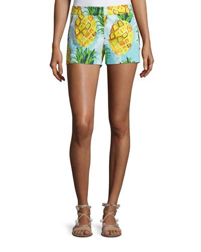 Pineapple-Print Shorts