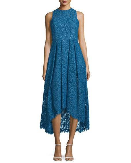 Shoshanna Sleeveless Lace High-Low Dress