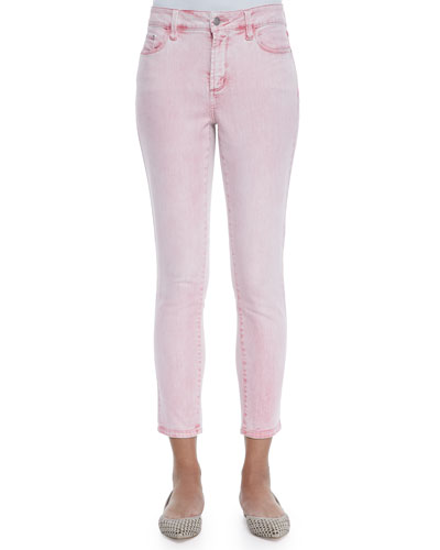 Angie Super Skinny Ankle Jeans, Waterlilly
