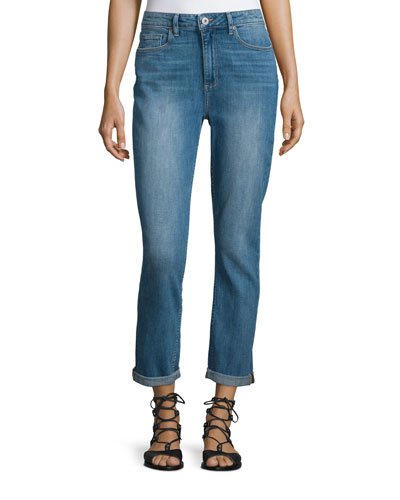 Carter Slim-Leg Cropped Jeans, Blue