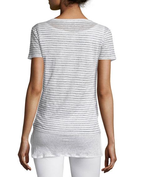 Linen Double-Layer Short-Sleeve Tee
