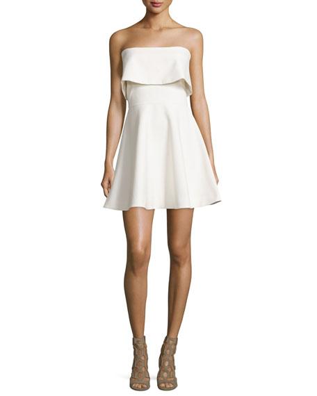 Elizabeth and James Melidna Strapless Popover Dress, Ivory