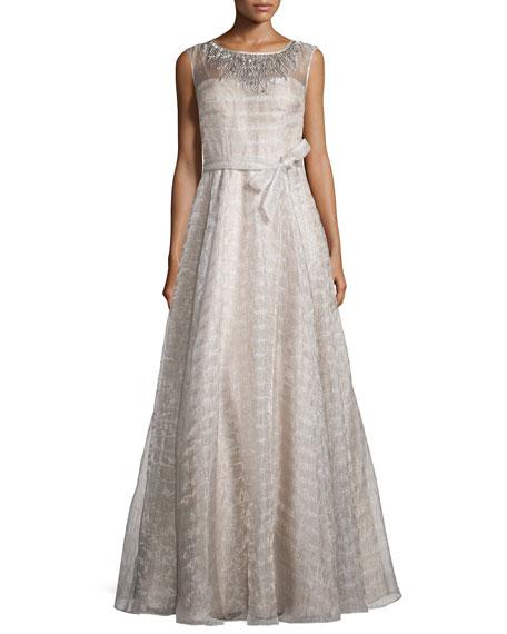 Sleeveless Organza Ball Gown