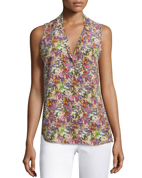 EquipmentAdalyn Sleeveless Floral-Print Top, Happy Pink/ Multi