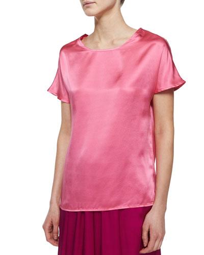 Short-Sleeve Silk Cocoon Tee