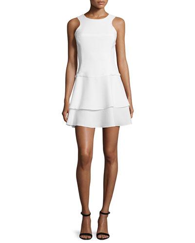 Sleeveless Tiered-Skirt Dress