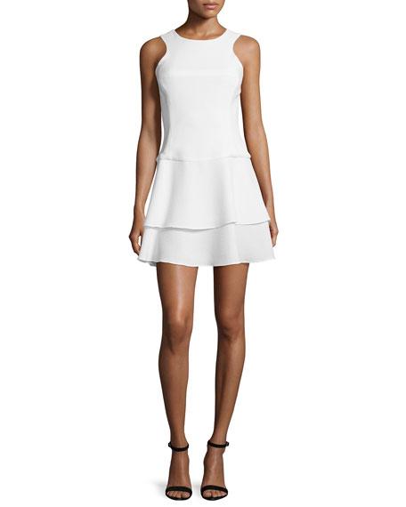 Black HaloSleeveless Tiered-Skirt Dress