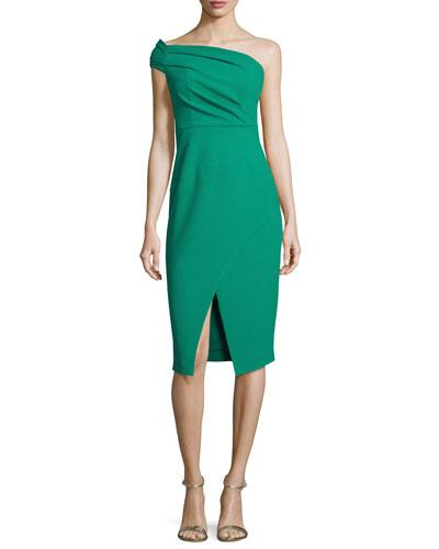 One-Shoulder Ruched Sheath Dress