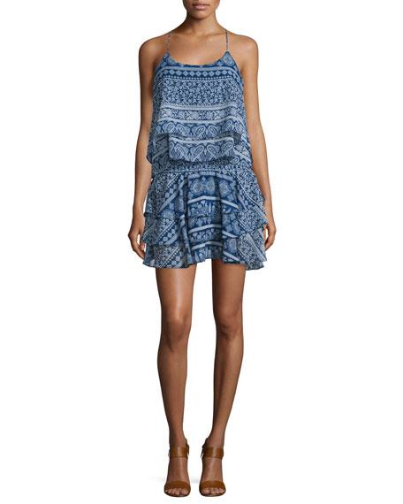 MISA Los Angeles Tamara Sleeveless Tiered Mini Dress,