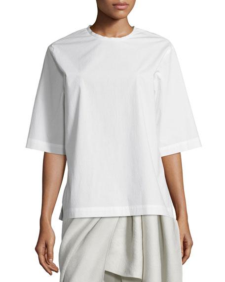Joseph Dilys Oversized Stretch Poplin Shirt, White