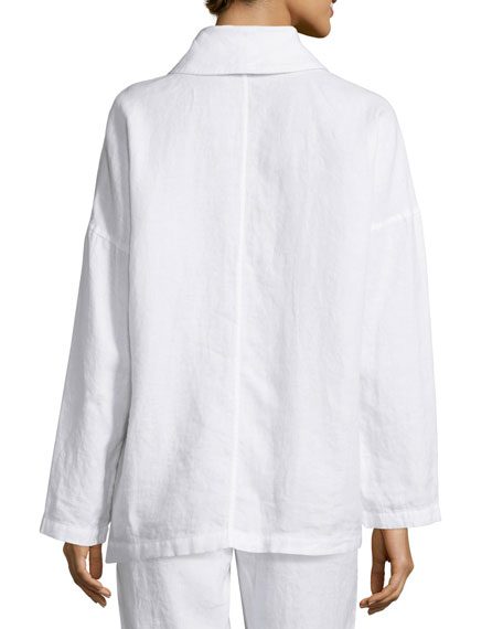 Heavy Linen Jacket with Pockets, Petite