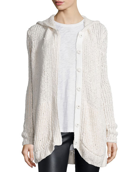 ATM Anthony Thomas Melillo Hooded Oversize Button-Front Cardigan