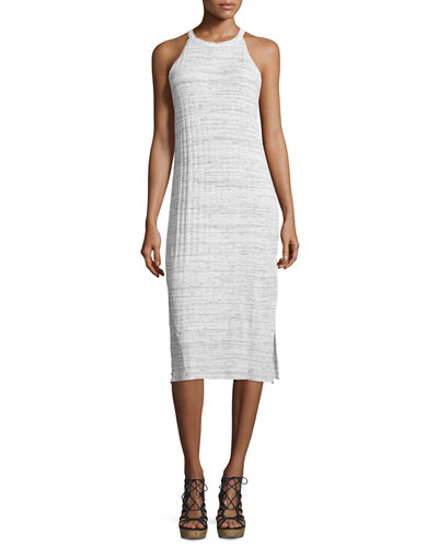 Space Dye Sleeveless Sheath Dress, Paper